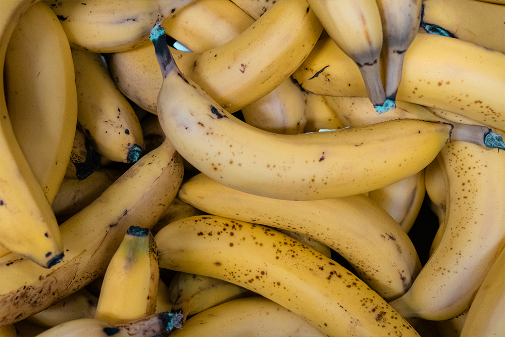 Überschüssigen Bananen